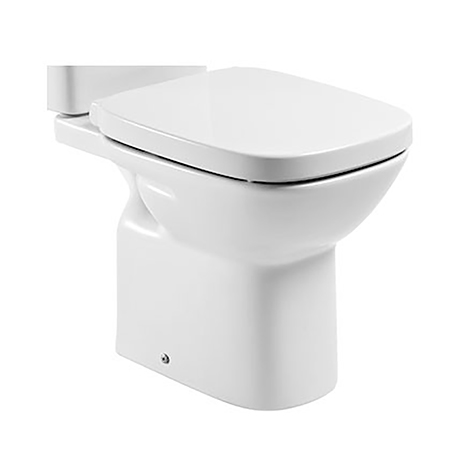 Roca Debba Vitreous china close-coupled WC with horizontal outlet - 34299700U