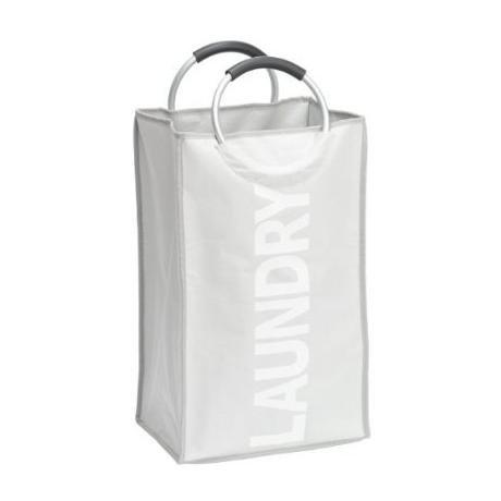 Wenko Stone Uno Laundry Bin - Grey - 3440003100