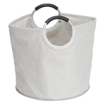 Wenko Stone Laundry Bin/Shopper - Grey - 2 Size Options Large Image