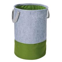 Wenko Felt Pop-up laundry Bin - Grey/Green - 3440203100 Medium Image