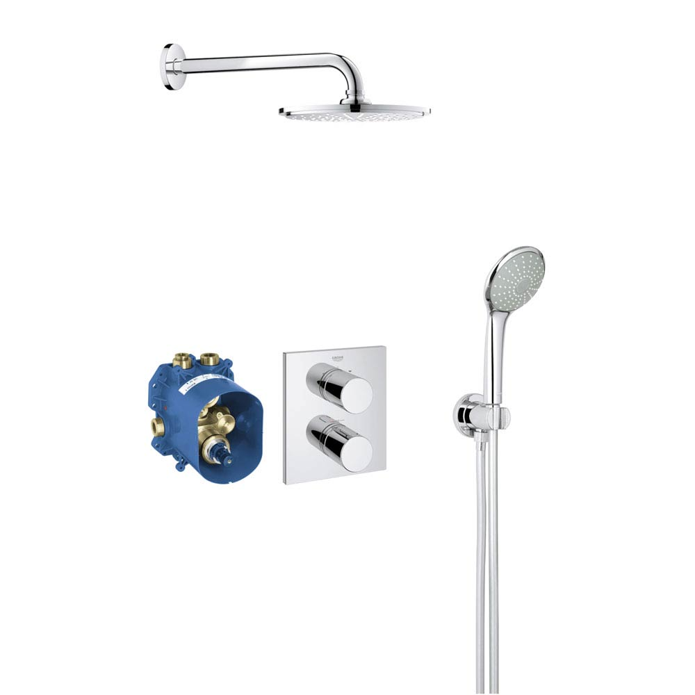 Grohe Grohtherm 3000 Cosmopolitan Perfect Shower Set - 34408000 Large Image