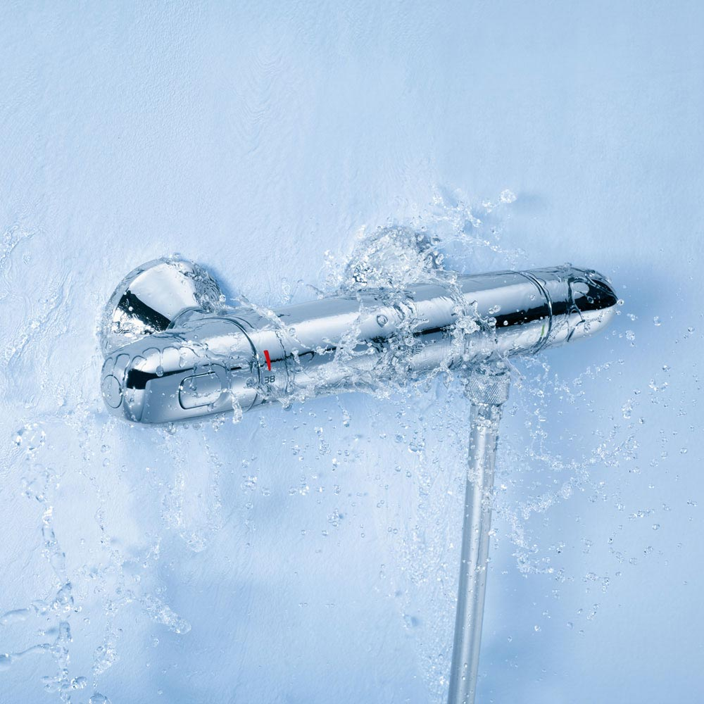 Grohe Grohtherm 1000 New Thermostatic Shower Mixer - 34438003 profile large image view 2