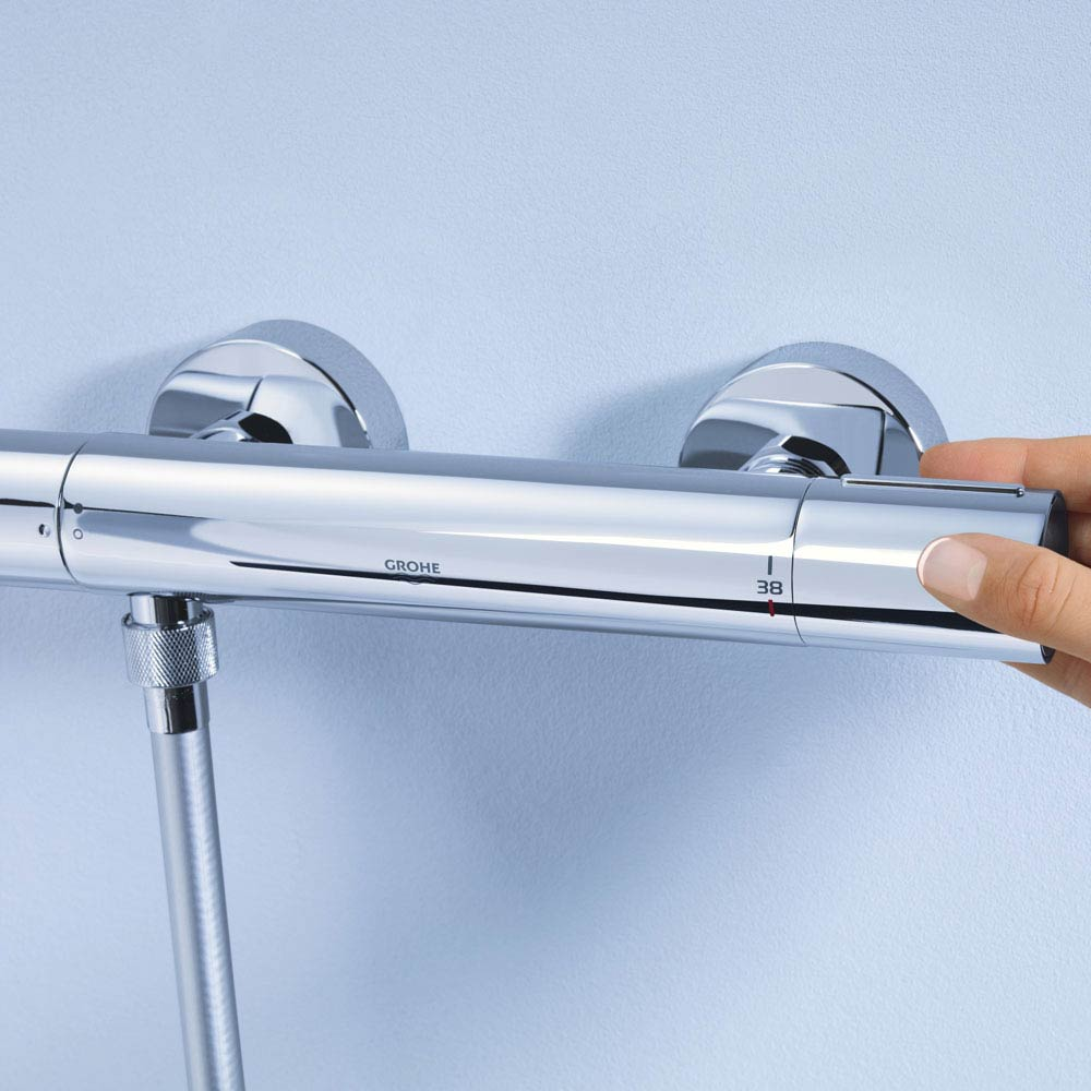Grohe Grohtherm 1000 Cosmopolitan M Thermostatic Shower Mixer - 34440002 profile large image view 2