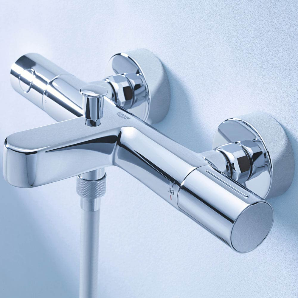 Grohe Grohtherm 1000 Cosmopolitan M Thermostatic Bath Shower Mixer - 34441002 profile large image view 2