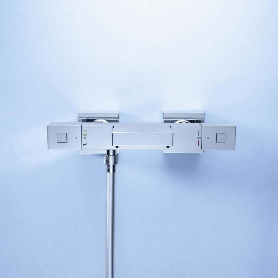 Grohe Grohtherm Cube Thermostatic Bath Shower Mixer - 34508000 profile large image view 3