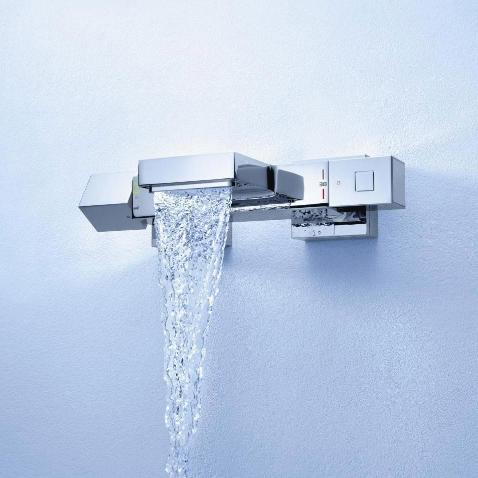 Grohe Grohtherm Cube Thermostatic Bath Shower Mixer - 34508000  Standard Large Image