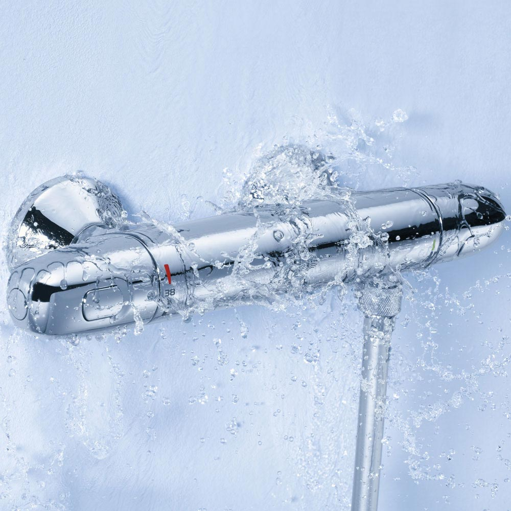 Grohe Grohtherm 1000 New Thermostatic Shower Mixer and Kit - 34557000  Standard Large Image