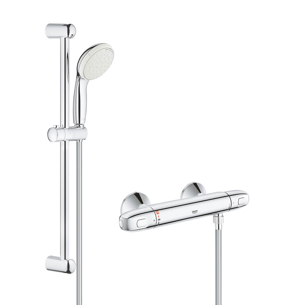Grohe Grohtherm 1000 New Thermostatic Shower Mixer and Kit - 34557001