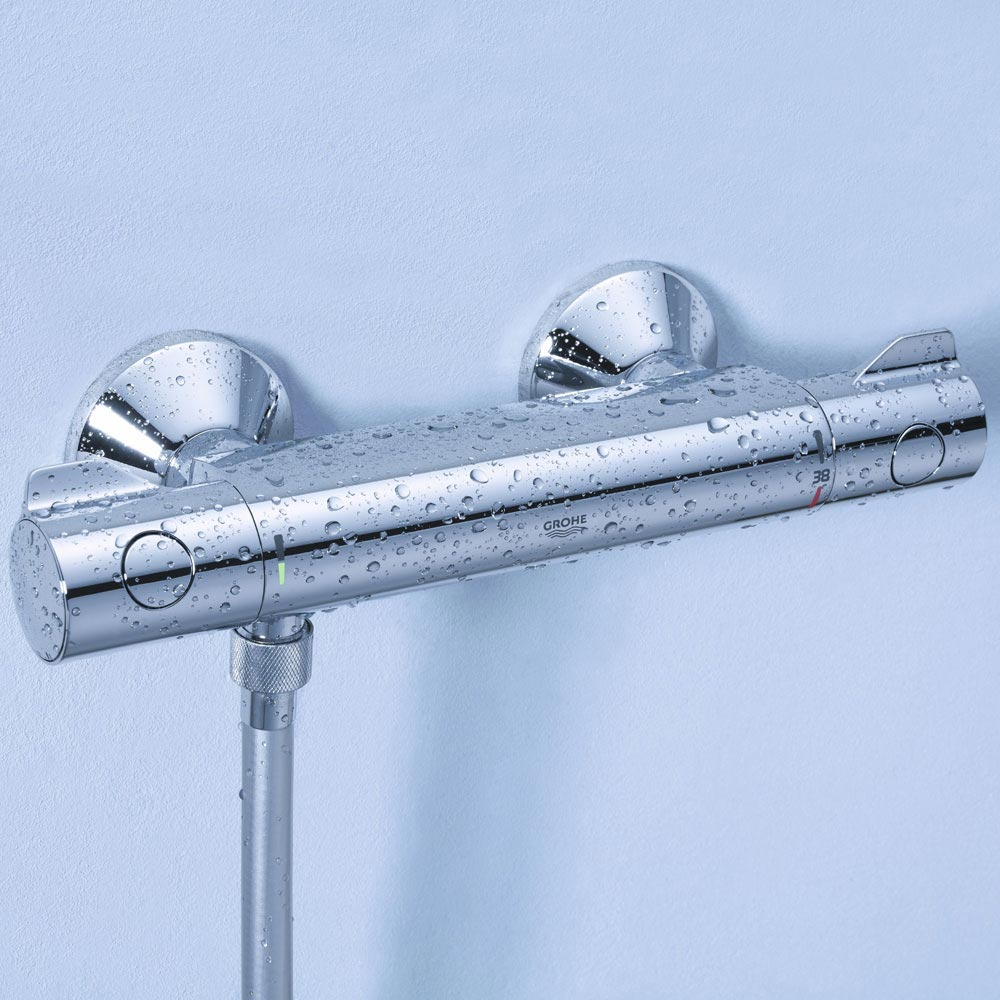 Grohe Grohtherm 800 Thermostatic Shower Mixer and Kit - 34565000  Feature Large Image