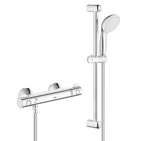 "Grohe Grohtherm 800 Thermostatic Shower Mixer 1/2"" with Shower Set - 34565001Grohe Grohtherm 800 The"