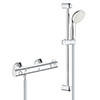 "Grohe Grohtherm 800 Thermostatic Shower Mixer 1/2"" with Shower Set - 34565001 profile small image view 1"