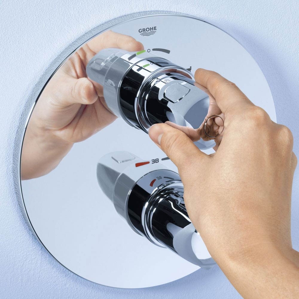 Grohe Grohtherm 1000 Concealed Shower Set - 34575000  Profile Large Image