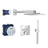 Grohe Grohtherm SmartControl Square Perfect Shower Set with Rainshower 310 SmartActive - 34706000 profile small image view 1
