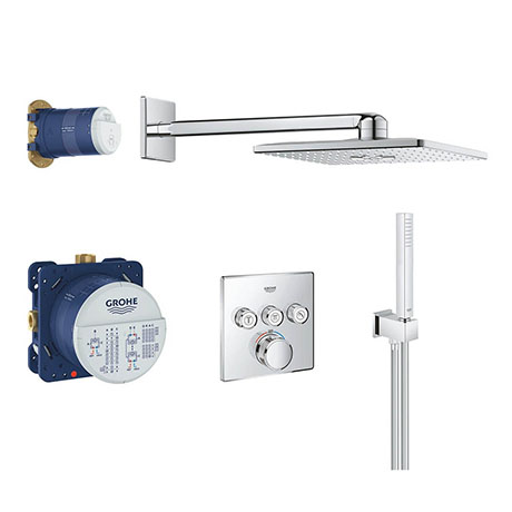 Grohe Grohtherm SmartControl Square Perfect Shower Set with Rainshower 310 SmartActive - 34706000