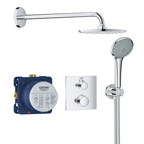 Grohe Grohtherm Perfect Shower Set with Cosmopolitan 210 Rainshower - 34734000
