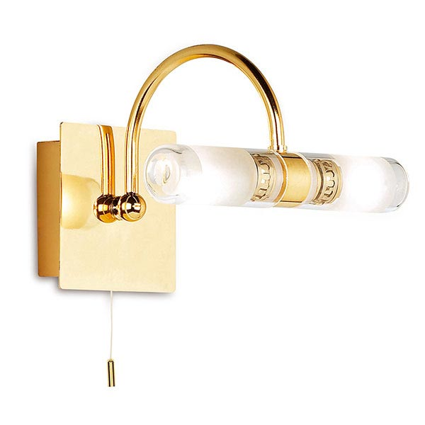 Endon - Arched Wall and Mirror Light with Pull String - Gold - 347 Large Image