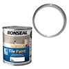 Ronseal One Coat Tile Paint 750ml - White Satin profile small image view 1