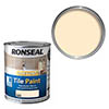 Ronseal One Coat Tile Paint 750ml - Magnolia Satin profile small image view 1
