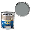 Ronseal One Coat Tile Paint 750ml - Granite Grey Satin profile small image view 1