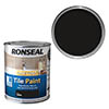 Ronseal One Coat Tile Paint 750ml - Black Satin profile small image view 1