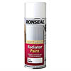 Ronseal White Satin Quick Dry Radiator Spray Paint 400ml profile small image view 1