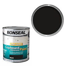 Ronseal One Coat Cupboard & Melamine Paint 750ml - Black Satin
