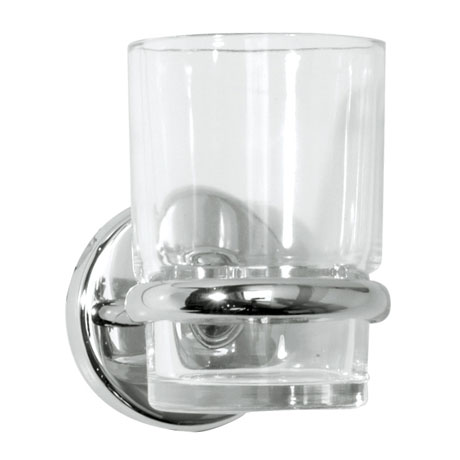 Roper rhodes wessex clear glass toothbrush holder for Clear glass bathroom accessories