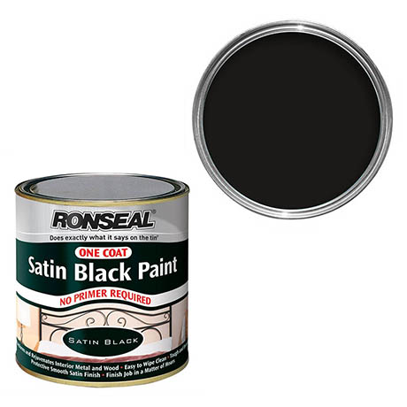 Ronseal One Coat Paint 250ml - Black Satin