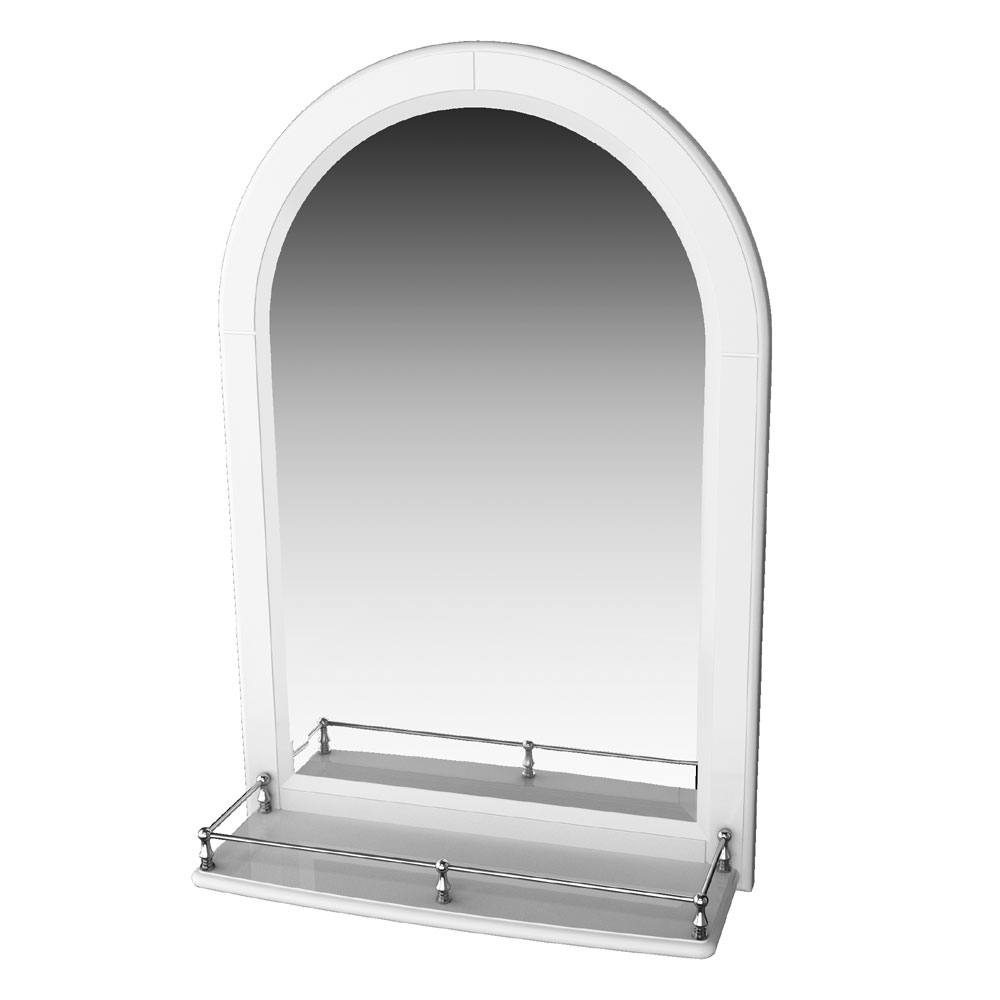 Miller - Traditional 1903 Arched Mirror with Fixed Shelf and Rail - 360C-2 Large Image