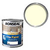 Ronseal One Coat Tile Paint 750ml - Ivory Satin profile small image view 1
