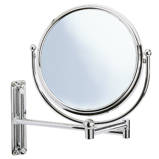 Wenko Deluxe Cosmetic Wall Mirror w/ Swivelling Arm - 5x magnification Large Image
