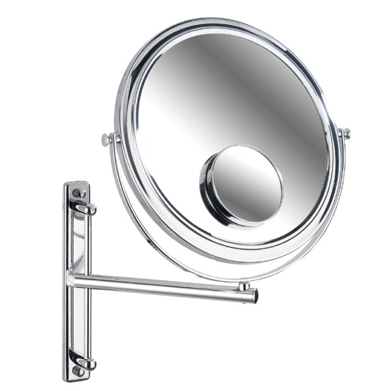 Wenko Deluxe Cosmetic Wall Mirror w/ Swivelling Arm - 3x/7x magnification Large Image