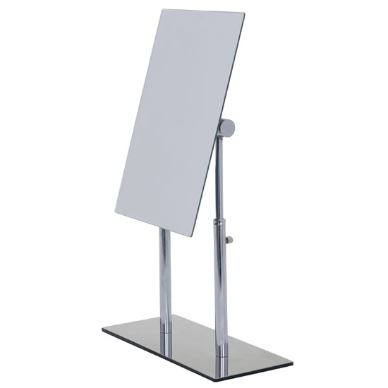 Wenko Pinerolo Standing Cosmetic Mirror - Chrome - 3656420100 profile large image view 2