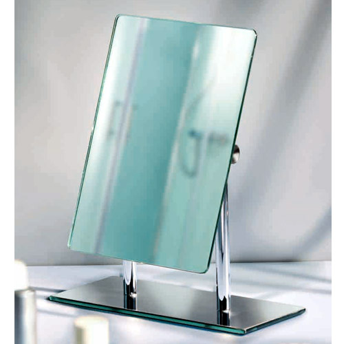 Wenko Pinerolo Standing Cosmetic Mirror - Chrome - 3656420100 Standard Large Image