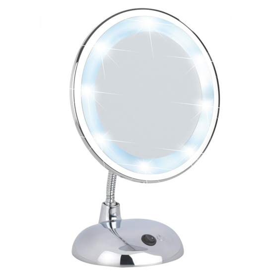 Wenko Style LED Comestic Mirror - 3x magnification - Chrome - 3656440100 profile large image view 1