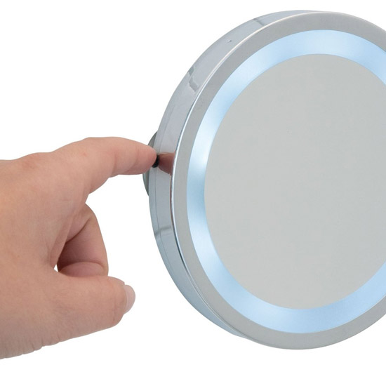 Wenko - Mosso LED Wall Mirror with Suction Cups - 3x magnification - 3656450100 profile large image view 2