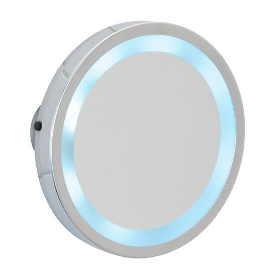 Wenko - Mosso LED Wall Mirror with Suction Cups - 3x magnification - 3656450100 profile large image view 1