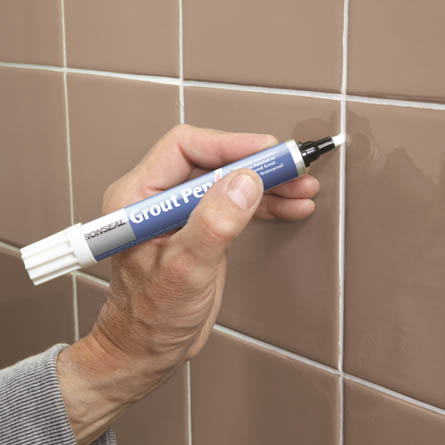 Ronseal One Coat Grout Pen 15ml | How to Paint Tiles in a Bathroom