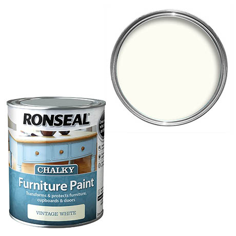 Ronseal Chalky Furniture Paint - Vintage White