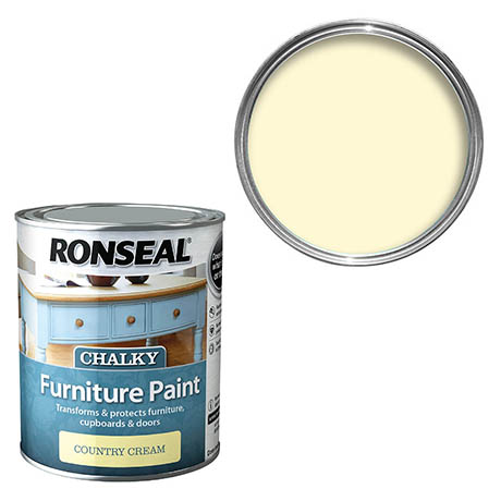 Ronseal Chalky Furniture Paint - Country Cream