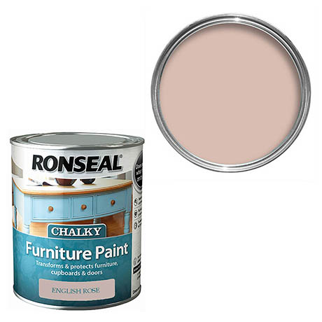 Ronseal Chalky Furniture Paint - English Rose