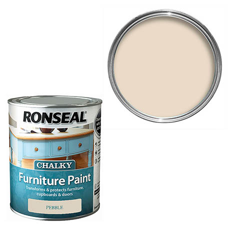 Ronseal Chalky Furniture Paint - Pebble