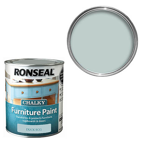 Ronseal Chalky Furniture Paint - Duck Egg