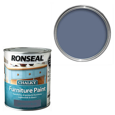 Ronseal Chalky Furniture Paint - Midnight Blue