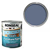 Ronseal Chalky Furniture Paint 750ml - Midnight Blue profile small image view 1