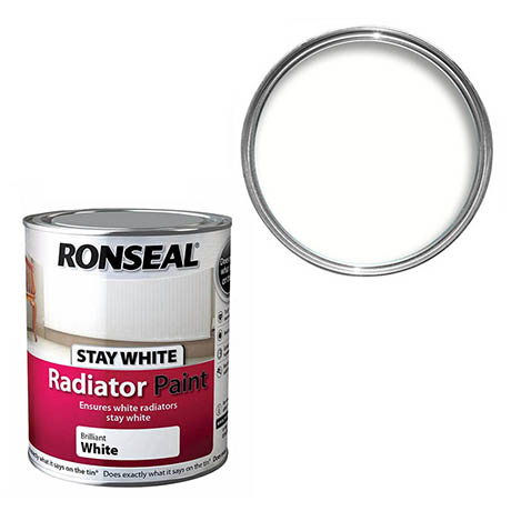 Ronseal Stay White Radiator Paint 250ml - White Matt