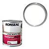Ronseal Stay White Radiator Paint 250ml - White Satin Small Image