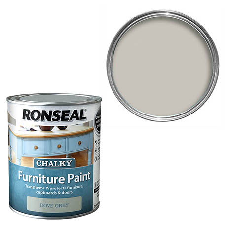 Ronseal Chalky Furniture Paint - Dove Grey