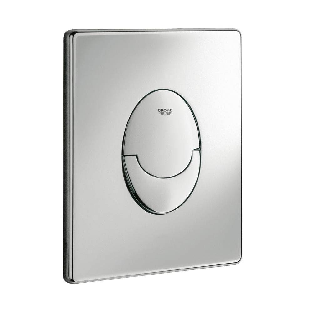 Grohe Skate Air WC Wall Flush Plate - Chrome - 38505000 Large Image
