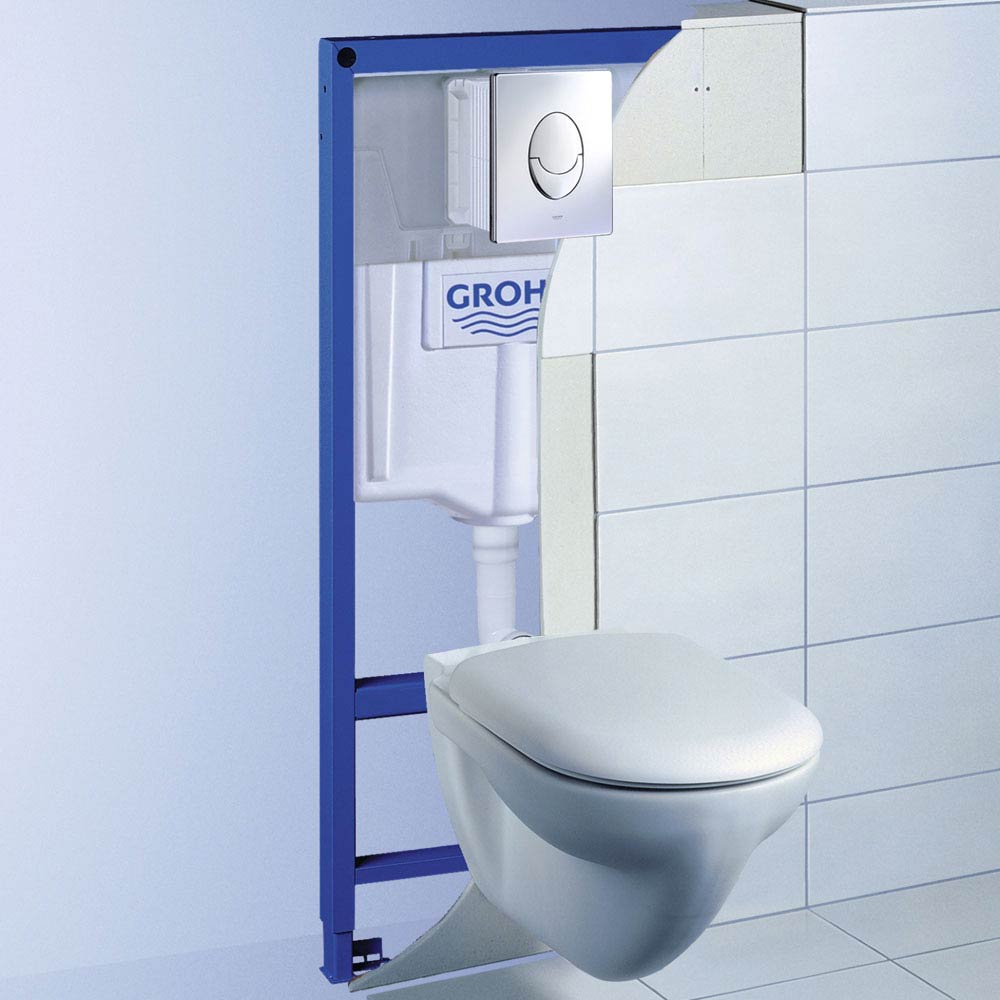 Grohe Rapid SL 1.13m Low Noise 3 in 1 Set Support Frame for Wall Hung WC - 38721001 profile large image view 2